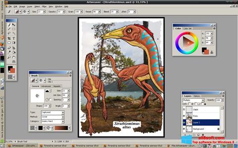 Ekrano kopija Artweaver Windows 8