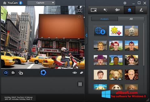 Ekrano kopija CyberLink YouCam Windows 8