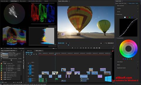 Ekrano kopija Adobe Premiere Pro Windows 8