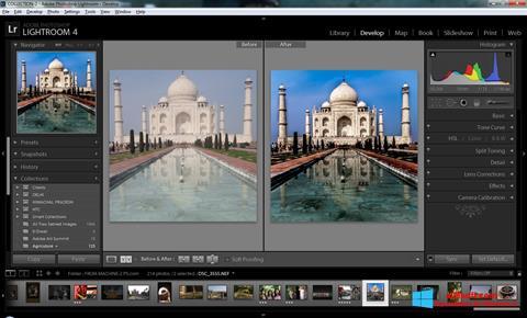 Ekrano kopija Adobe Photoshop Lightroom Windows 8