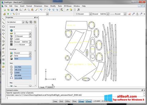 Ekrano kopija DraftSight Windows 8