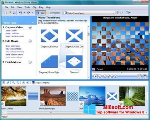 Ekrano kopija Windows Movie Maker Windows 8