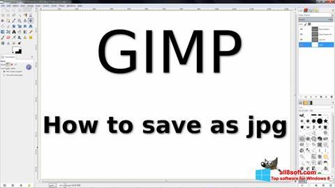 Ekrano kopija GIMP Windows 8