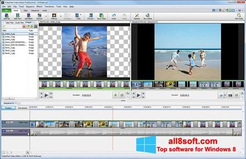 Ekrano kopija VideoPad Video Editor Windows 8