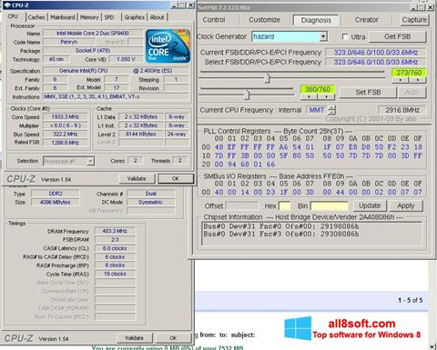 Ekrano kopija SetFSB Windows 8