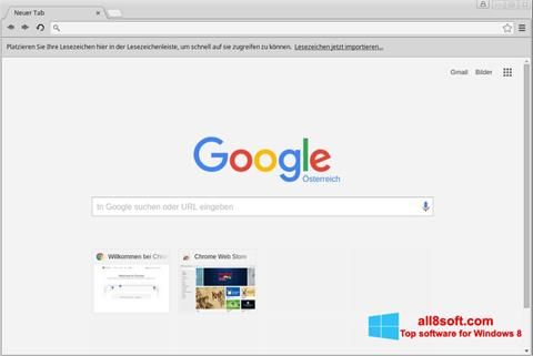 Ekrano kopija Google Chrome Windows 8