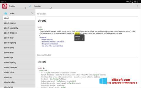 Ekrano kopija ABBYY Lingvo Windows 8
